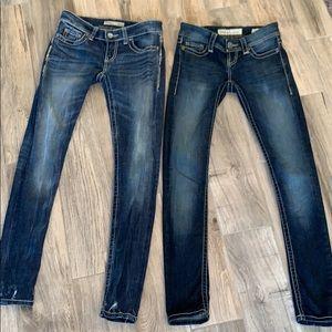 Pair of Stella BKE Low Rise Skinny Jeans